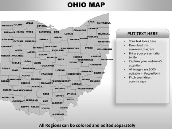 Ohio PowerPoint Maps