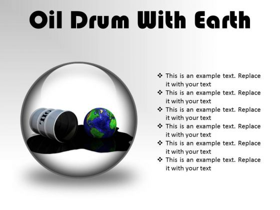 Oil Drum With Earth Industrial PowerPoint Presentation Slides C