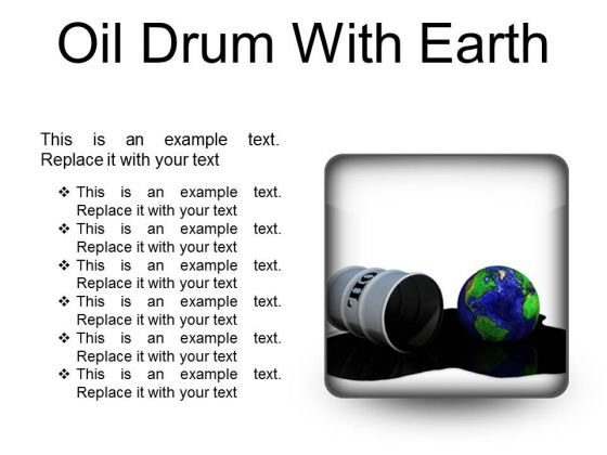 Oil Drum With Earth Industrial PowerPoint Presentation Slides S