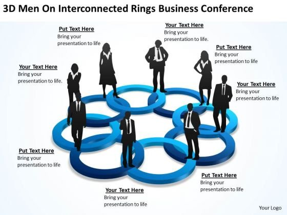 On Interconnected Rings Business Conference Plans Sample PowerPoint Templates