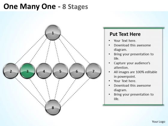 One Many Stages Sales Marketing Theme Ppt Business Plan PowerPoint Templates