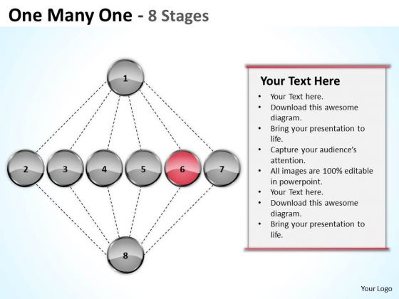One Many Stages Sales Marketing Theme Ppt Business Plan Template Free PowerPoint Templates