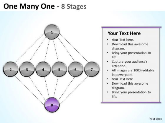 One Many Stages Sales Marketing Theme Ppt Executive Summary Business Plan PowerPoint Templates