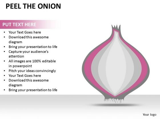 Onion Diagram Peel The Onion PowerPoint Slides And Ppt Diagram Templates