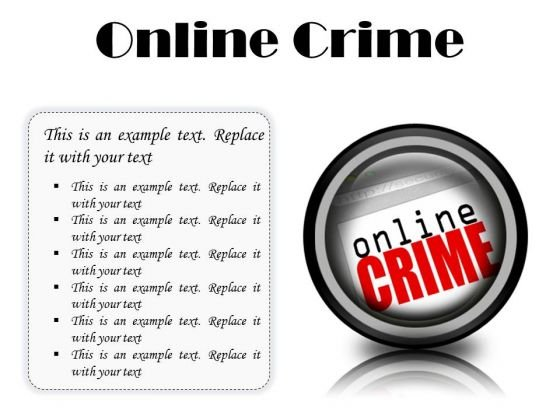 Online Crime Internet PowerPoint Presentation Slides Cc