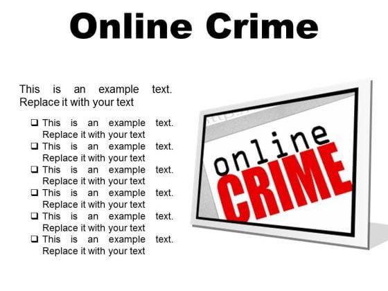 Online Crime Internet PowerPoint Presentation Slides F
