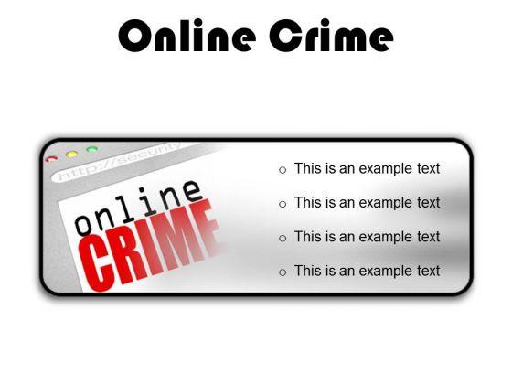 Online Crime Internet PowerPoint Presentation Slides R