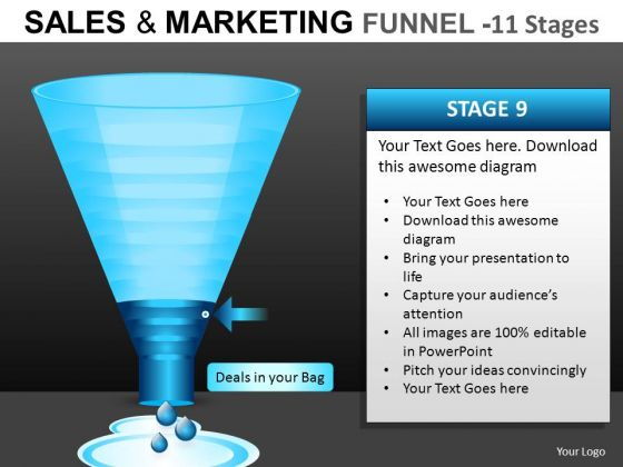 Online Marketing Conversion Funnel PowerPoint Templates