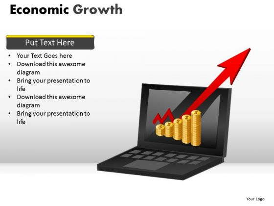 Online Revenues Growth PowerPoint Templates Online Money Ppt Slides