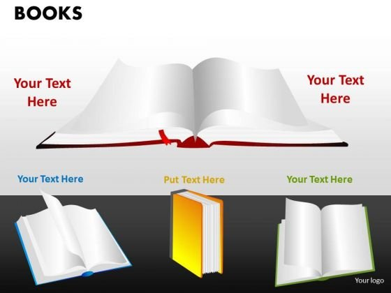 Open Books PowerPoint Slides And Ppt Diagram Templates