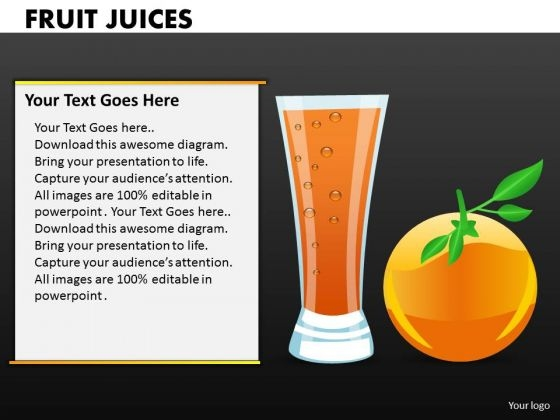 Orange Juices PowerPoint Templates And Oranges Ppt Slides