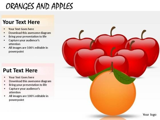 Orange Leading Fruit PowerPoint Slides And Ppt Templates