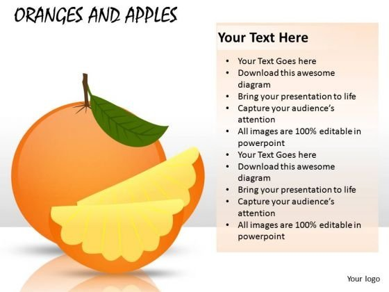Orange Slices PowerPoint Slides And Ppt Diagram Templates