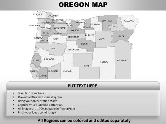 Oregon PowerPoint Maps