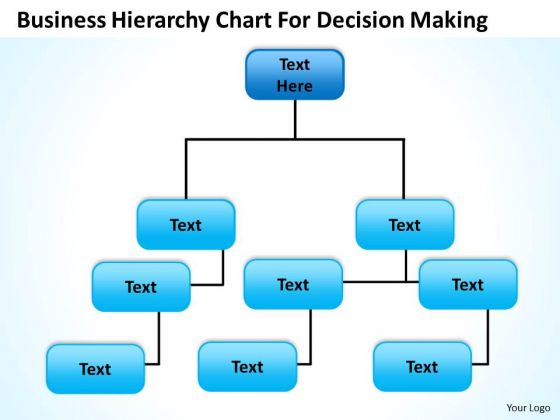 Org Chart Template PowerPoint Business Hierarchy For Decision Making Templates