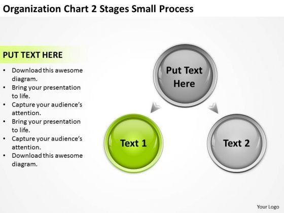 Organization Chart 2 Stages Small Process Ppt Business Plans PowerPoint Slides