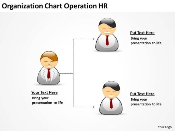 Organization Chart Operation Hr Ppt Business Plan PowerPoint Templates