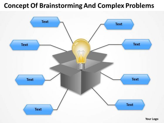 Organization Chart Template Concept Of Brainstormingand Complex Problems PowerPoint Templates