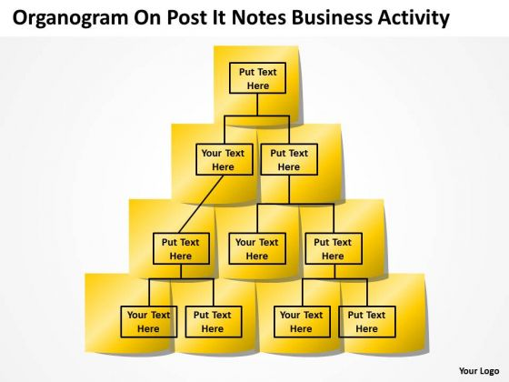 Organogram On Post It Notes Business Activity Ppt Plan Format - Organogram template