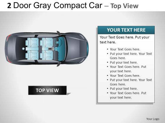 Outdoors 2 Door Gray Car Top PowerPoint Slides And Ppt Diagram Templates