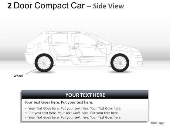 Outside Tuner 2 Door Blue Car Side PowerPoint Slides And Ppt Diagram Templates