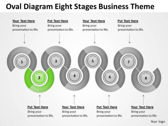 Oval Diagram Eight Stages Business Theme Ppt Examples Plan Outline PowerPoint Templates