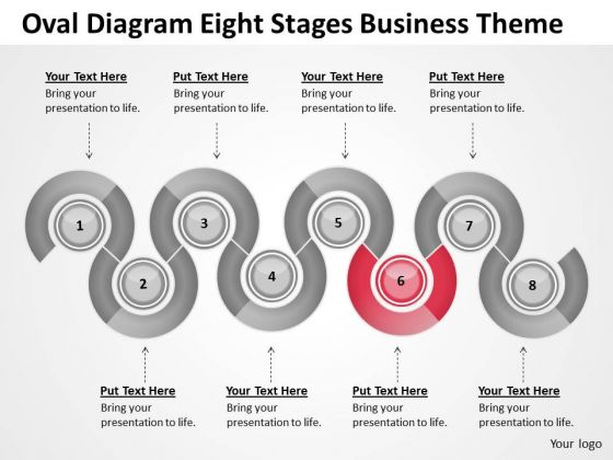 Oval Diagram Eight Stages Business Theme Ppt Model Plans PowerPoint Templates