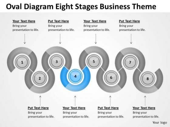 Oval Diagram Eight Stages Business Theme Ppt Outline Plan PowerPoint Slides