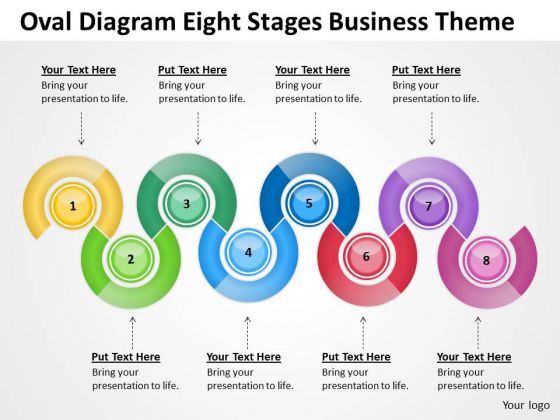 Oval Diagram Eight Stages Business Theme Ppt Profit Plan PowerPoint Templates