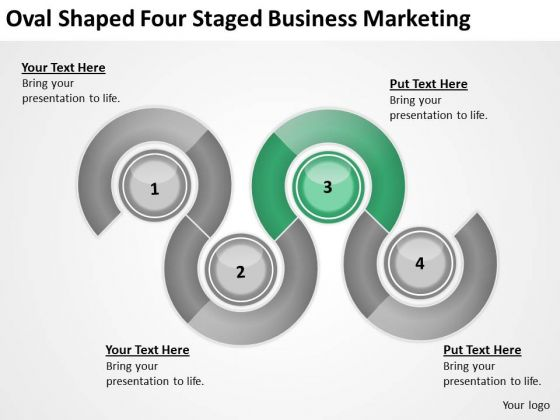 Oval Shaped Four Staged Business Marketing Ppt Plans Software PowerPoint Slides