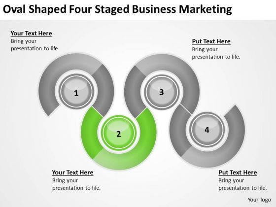 Oval Shaped Four Staged Business Marketing Ppt Sample Of Plan PowerPoint Templates
