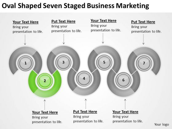 Oval Shaped Seven Staged Business Marketing Ppt Elements Plan PowerPoint Templates