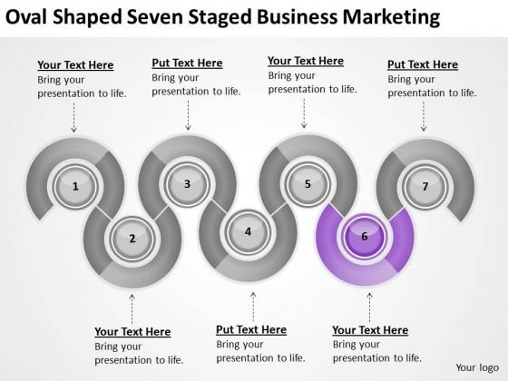 Oval Shaped Seven Staged Business Marketing Ppt How To Present Plan PowerPoint Slides