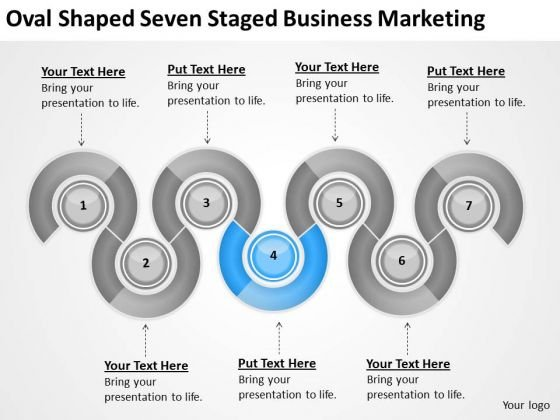 Oval Shaped Seven Staged Business Marketing Ppt Plan Download PowerPoint Templates