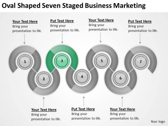 Oval Shaped Seven Staged Business Marketing Ppt Small Plan PowerPoint Slides