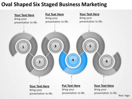 Oval Shaped Six Staged Business Marketing Ppt Contingency Plan PowerPoint Slides