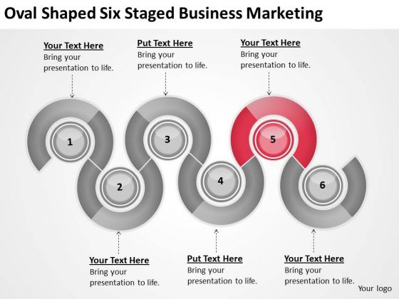 Oval Shaped Six Staged Business Marketing Ppt Plan Ideas PowerPoint Slides