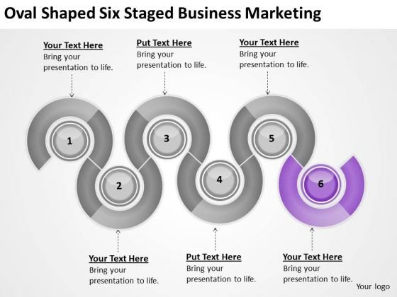 Oval Shaped Six Staged Business Marketing Ppt Plan Outline Sample PowerPoint Slides