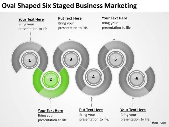 Oval Shaped Six Staged Business Marketing Ppt Proposal Examples PowerPoint Slides