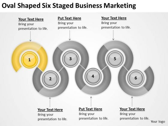Oval Shaped Six Staged Business Marketing Ppt Realtor Plan PowerPoint Slides