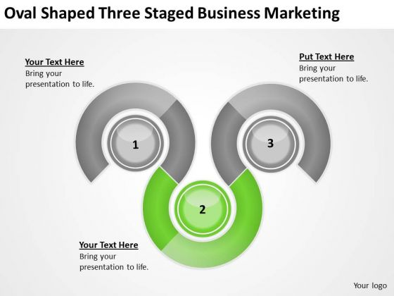 Oval Shaped Three Staged Business Marketing Ppt Cost Of Plan PowerPoint Templates