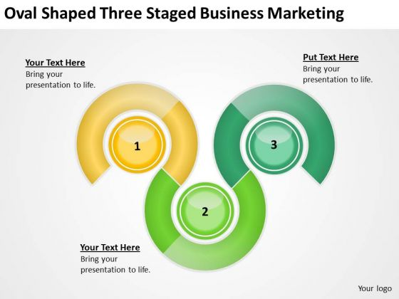 Oval Shaped Three Staged Business Marketing Ppt Plan Wizard PowerPoint Slides