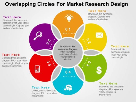 Overlapping Circles For Market Research Design PowerPoint Template