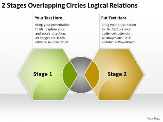 Overlapping Circles Logical Relations Business Plan Software Download PowerPoint Slides