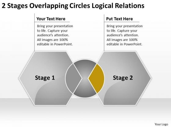 Overlapping Circles Logical Relations Real Estate Business Plan Template PowerPoint Slides