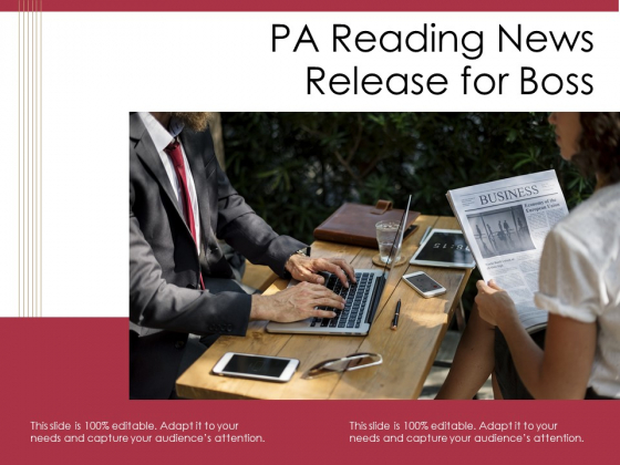 PA Reading News Release For Boss Ppt PowerPoint Presentation Styles Slides PDF