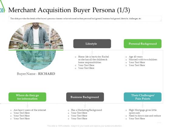 POS For Retail Transaction Merchant Acquisition Buyer Persona Cash Topics PDF