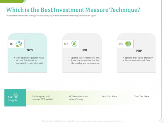 PP And E Valuation Methodology Which Is The Best Investment Measure Technique Inspiration PDF