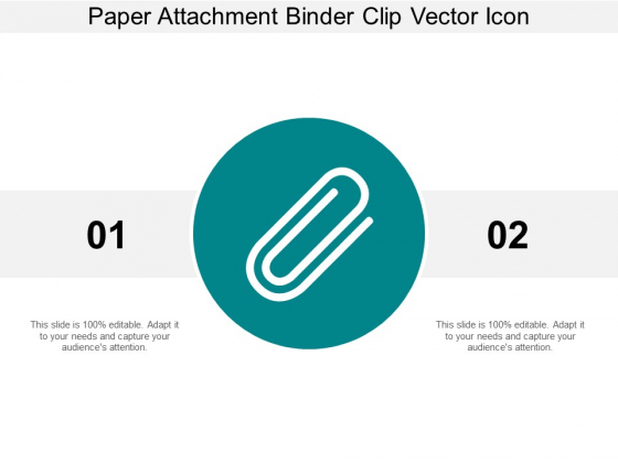 Paper Attachment Binder Clip Vector Icon Ppt Powerpoint Presentation Summary Gridlines