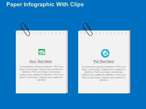 Paper Infographic With Clips PowerPoint Templates
